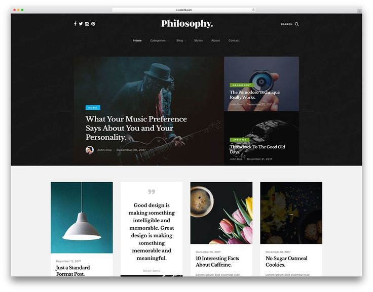 31 Free Simple Website Templates For Clean Sites Using HTML & CSS 2018 - Colorlib