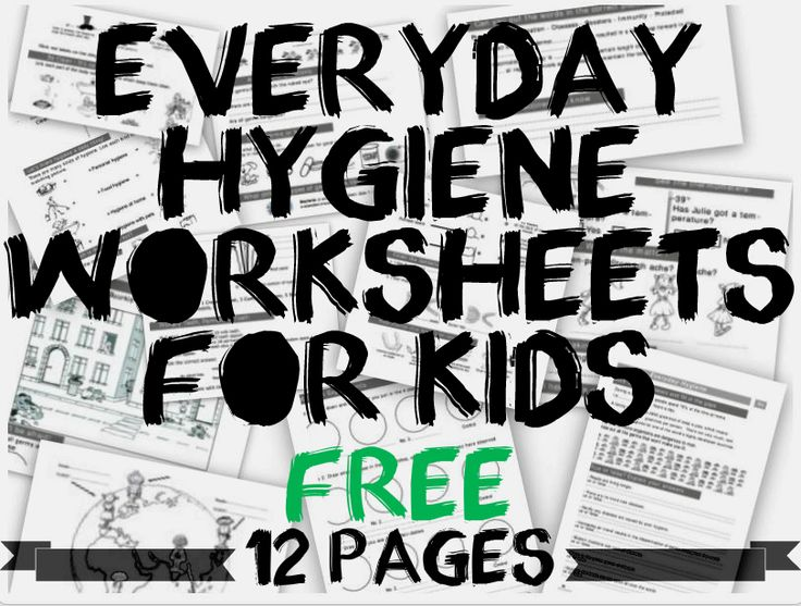 Everyday Hygiene Worksheets For Kids