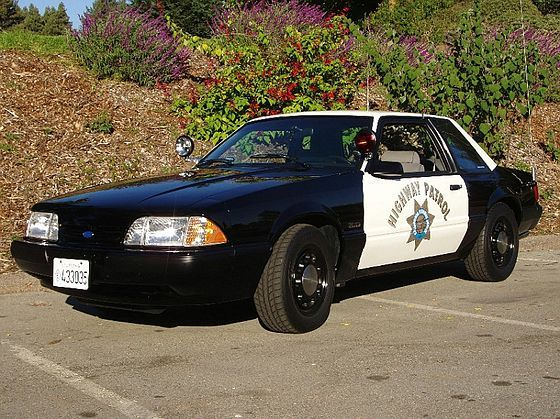 1987-1993 Ford Mustang Police Car. TheFord Mustang SSPwas a lightweightpolice car packagebased on theFord Mustangproduced between 1982-1993. The car was meant to provide a speedier option forpolicedepartments in lieu of other full sized (and heavier)sedanson the market at the time. The SSP abbreviation meansSpecial Service Package, a specialFoxbody Mustangtrim made exclusively for law enforcement use.