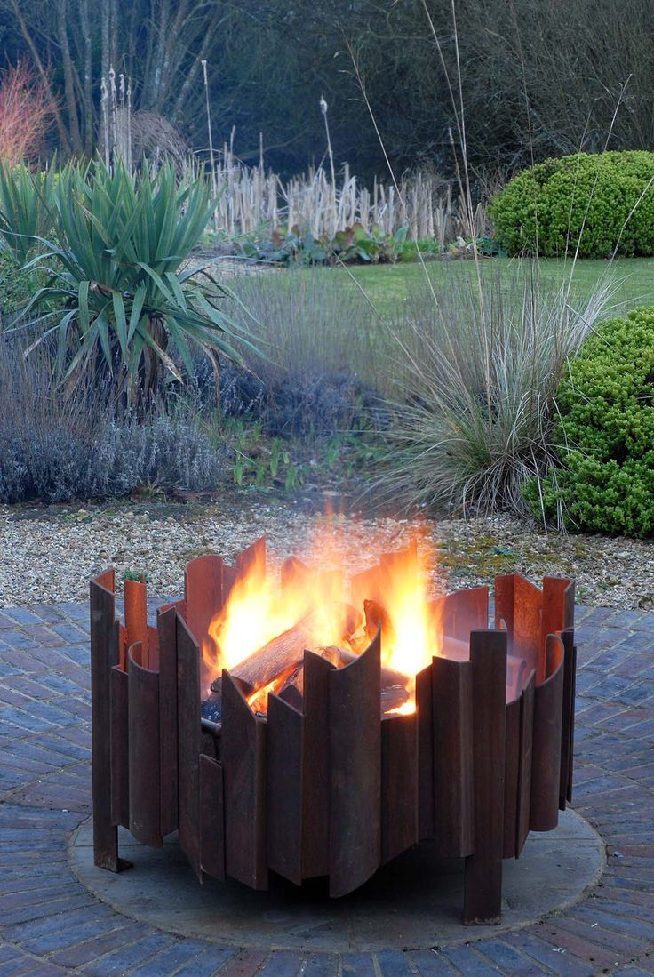 Magma fire pit from magmafirepits, durable 5mm steel firepit, sculptural firepit, bespoke fire pit, fire bowl