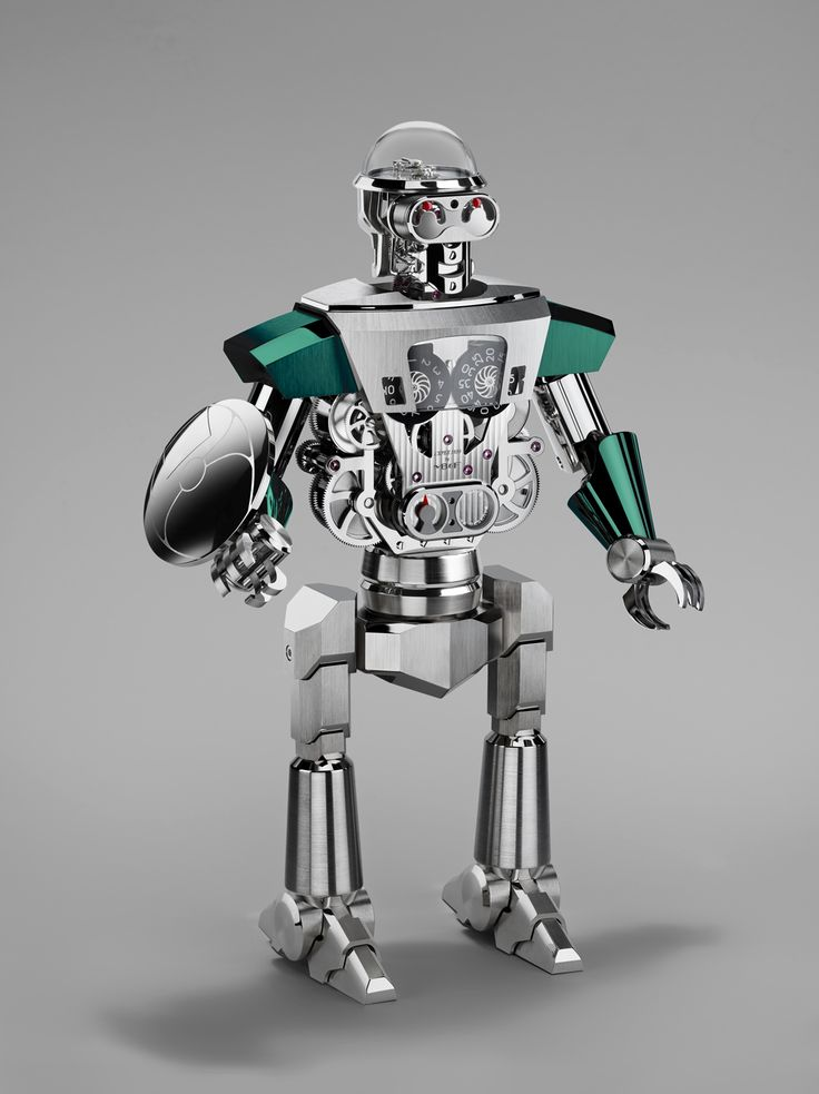 Balthazar is a sophisticated and imposing high-precision robot clock displaying jumping hours, retrograde seconds and a 35-day power reserve. Weighing in at over eight kilograms (18 pounds) and standing nearly 40 centimetres tall (16 inches), Balthazar is composed of 618 beautifully finished, micro-engineered components.