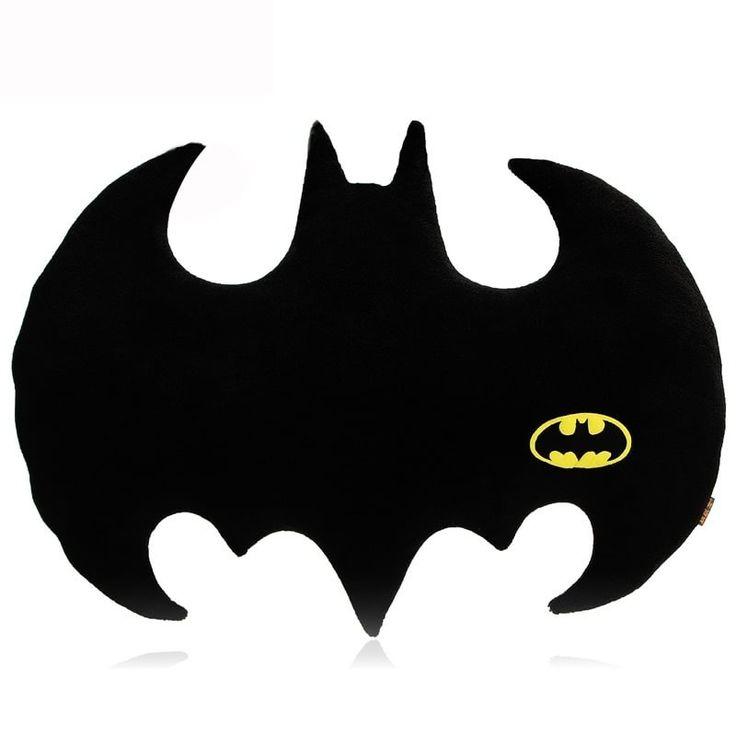 Creative Batman Pillow Super Seat Cushion 3D Back Cushion Nap Pillow Throw Pillows  Car Home Decor gift