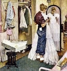 """[7] """"Will Brad like my dress? Will I look pretty? Sophisticated? The Prom Dress, Norman Rockwell. http://maryemartintrilogies.com/?p=7297"""