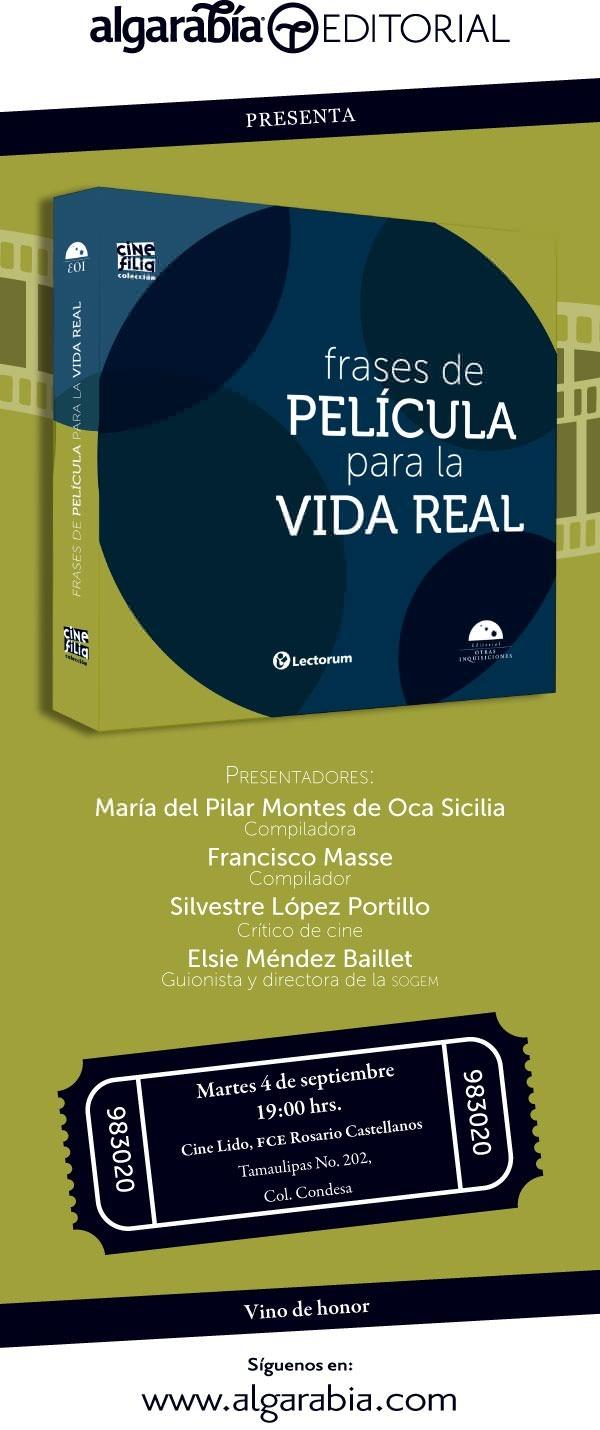 Mañana presentación de nuestro libro de cine: 7pm, Cine Lido, Condesa, México, D.F.