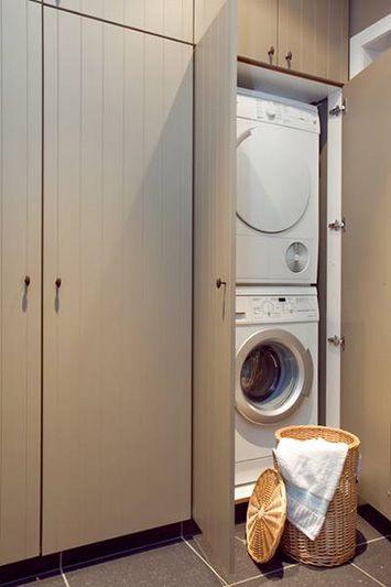 Keukens De Wolf ⎮ Berging wasmachine en droogkast