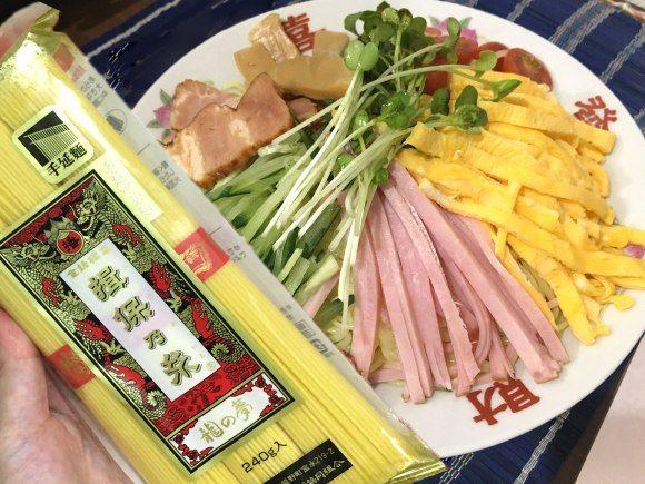 そうめんの『揖保乃糸』には「中華麺」もある