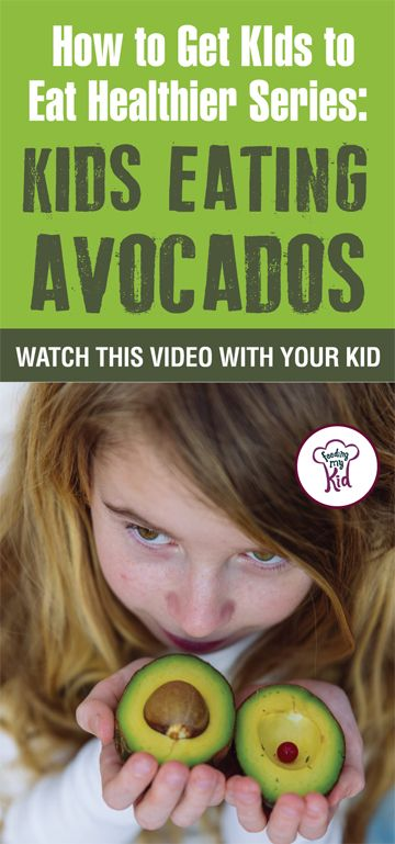 Want your kids to eat avocados? Learn how to get kids to eat vegetables by having them watch these videos of children eating veggies. Find out how it works here. #pickyeating #getkidstoeat #Avocados #NoKidsMenu