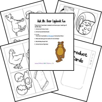 Ask Mr. Bear Lapbook and Printables
