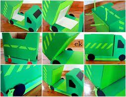 Image result for cardboard box dump truck