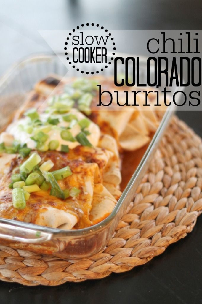 Slow Cooker Chili Colorado Burritos - so simple and perfect on a busy week night!