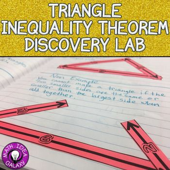 In this teacher led discovery lab students will discover the conditions for triangles given side lengths and angle types.  Using this inquiry-based, hands-on introduction activity gets students a deeper conceptual understanding and sets the stage for a great unit. Perfect for 7th graders learning about the properties of triangles and the triangle inequality theorem.