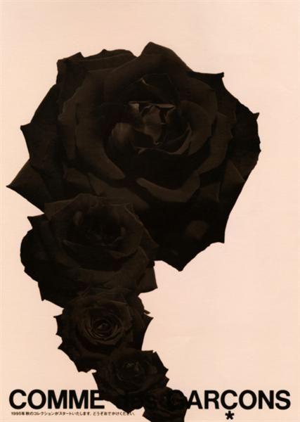 コムデギャルソン Black Roses by Comme de Garçon Circa 1995