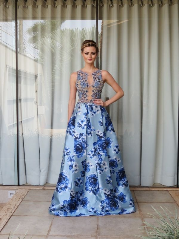vestido de festa azul 2016