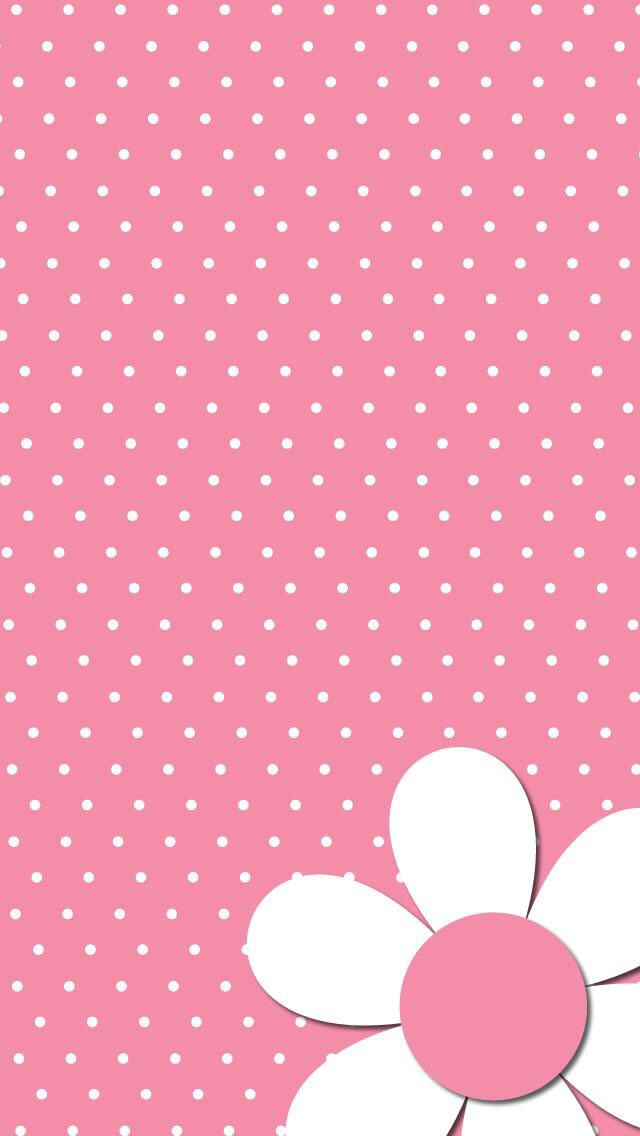 Polka Dots & Daisy Wallpaper.