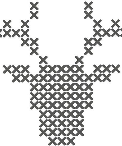 cross stitch patterns buck | Xmas decoration . Weihnachtsdekoration . décoration noël | Design: Lidewij Engels |