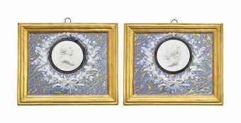 Porcelain medallion portraits of Louis XVI and Marie-Antoinette, 1775, Sevres