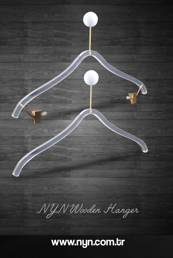 Plexiglass luxury blouse hanger