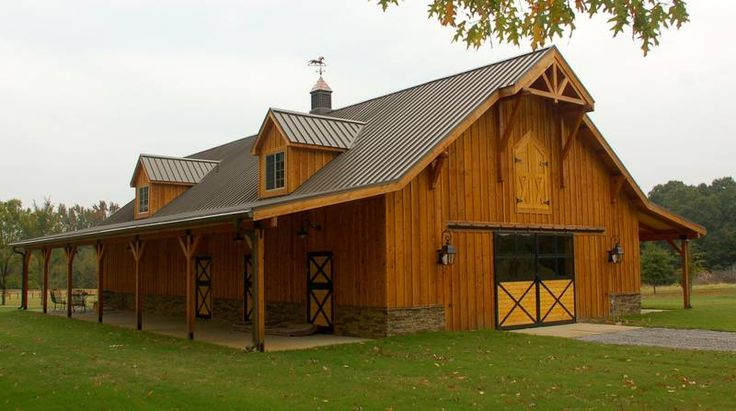 31 best horse barns with living quarters images on for Custom barn homes