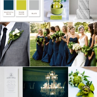 Wedding Color Scheme Ideas Navy Blue Lime Green And Gray