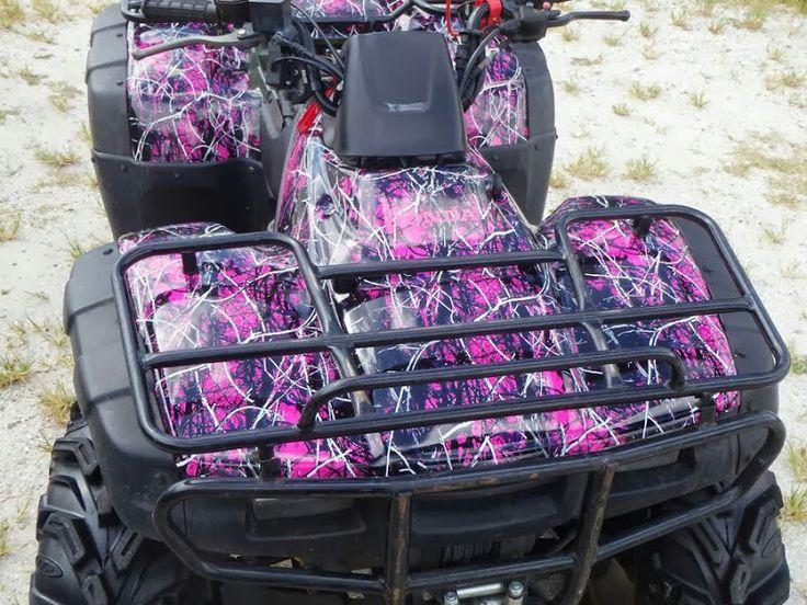 Pink camo 4 wheeler