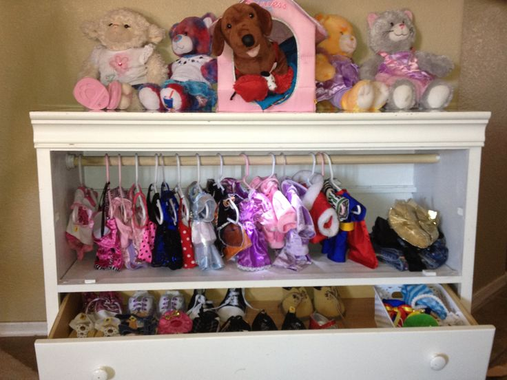 Build A Bear Closet From Old Dresser My Evironmentally