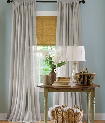 Bring understated elegance to your windows with Sheer Linen from Country Curtains.
