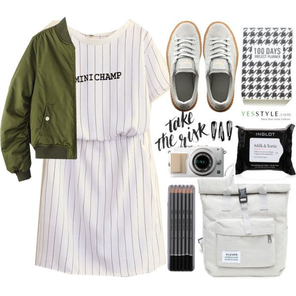 Show us your YesStyle by nastya-d on Polyvore featuring polyvore, fashion, style, Chicsense, Puma, NLY Accessories, Inglot, clothing, BackToSchool and outfit