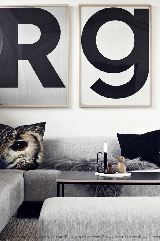 Bold Type Framed - Great Home Decor Idea