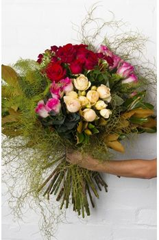 Pearsons Florist Columbian roses red pink cream