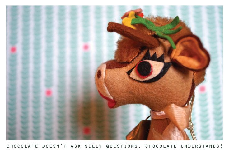 Chocolate doesn't ask silly questions, chocolate undertstands