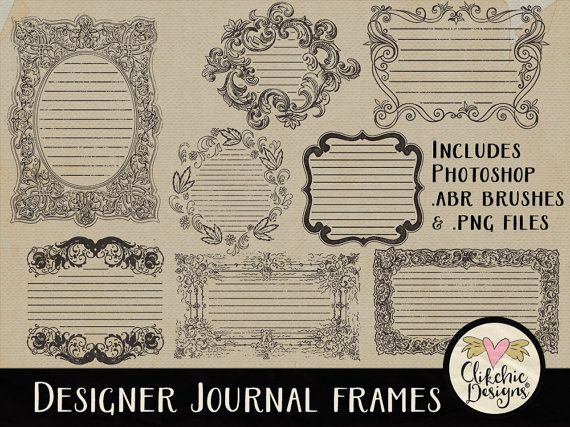 Vintage Frames & Photoshop Brushes  Digital by ClikchicDesign