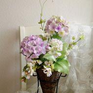 Sold ☆クレイフラワー(紫陽花咲きました)-2の画像