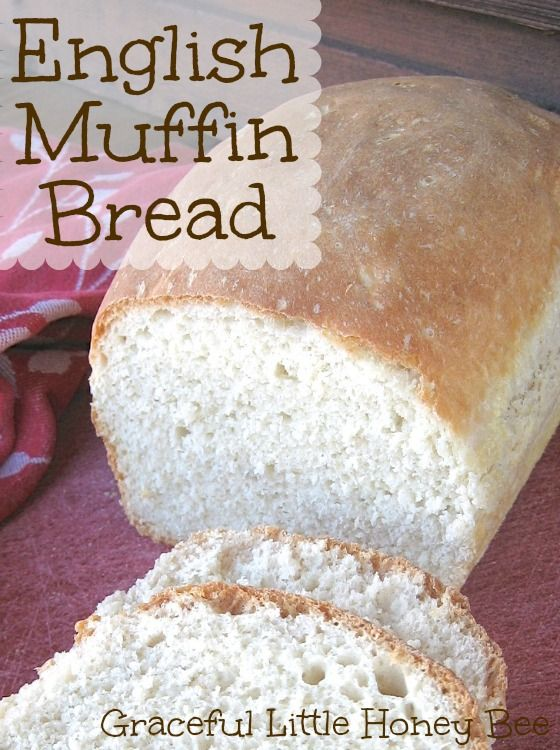 This English Muffin Bread is amazing smeared with melted butter and drizzled with honey.