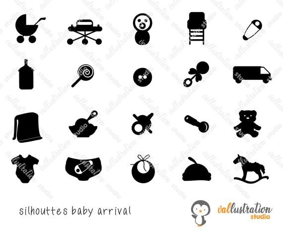 Baby Arrival Icons Svg Baby Icons Svg Png Eps Etsy Baby Icon Baby Svg Cricut Vinyl