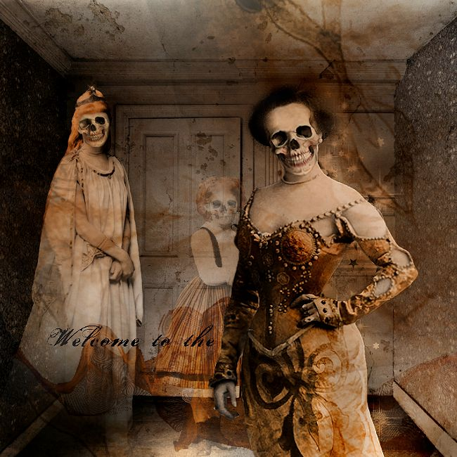 """I using """"Skull Heads, Shabby Shady Interiors, Treack or Treat"""" from ItKuPiLLi By Kirsi Iggy Rouvinen http://www.mischiefcircus.com/shop/manufacturers.php…"""