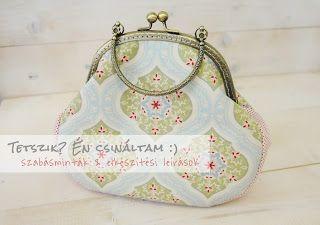 Tetszik? Én csináltam :): Elegáns táska fém füles kerettel - szabásminta és elkészítési leírás