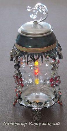 Сенсорный фонарик. Алюминиевые банки
