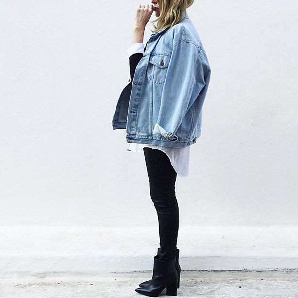 good oversized jeans outfit size