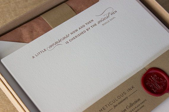 Roald Dahl quote letterhead by Meticulous Ink