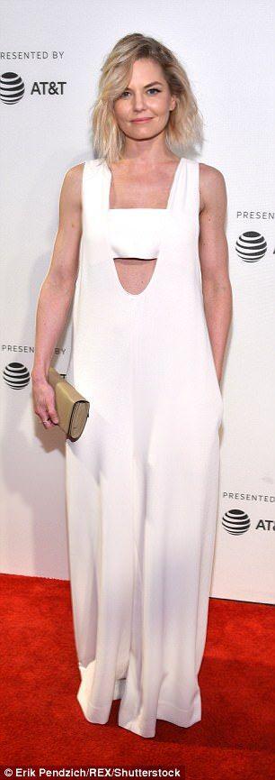 Jennifer Morrison, 38, also wore white for the premiere