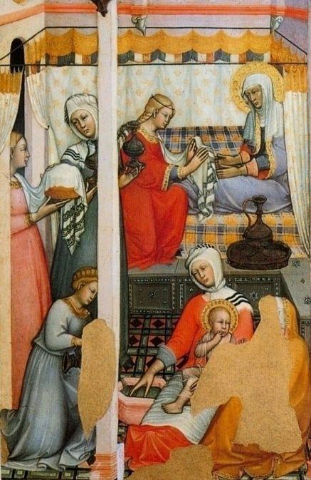http://gorbutovich.livejournal.com/134230.html Фрагмент. Рождество Девы Марии. Паоло ди Джованни Феи. 1381 г. Пинакотека, Сиена.