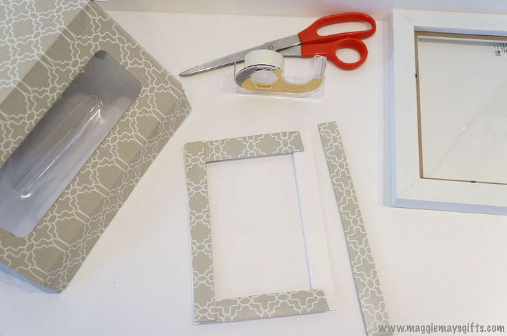 Hometalk :: Repurposed Kleenex Box for Decorated Frames and Candles
