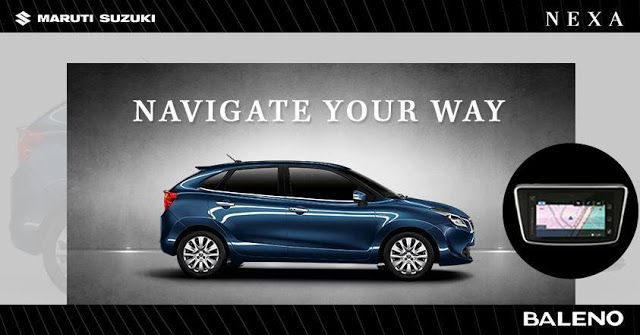 Know where you are heading to with the navigation system in #Baleno.