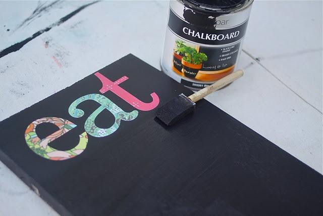 Board + chalkboard paint + mod podge = simple menu board
