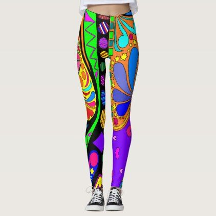 Wild and Crazy Leggings  $59.95  by Colors_In_My_World  - cyo customize personalize unique diy idea