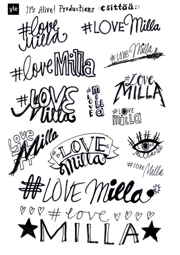 #lovemilla - Portfolio of Riikka Kurki 1st season logos