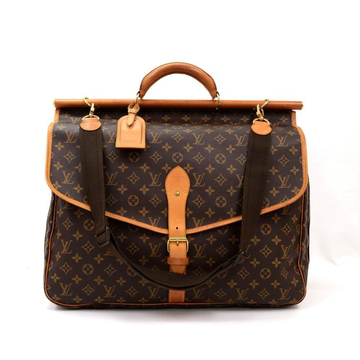 Authentic Louis Vuitton Sac Chasse The Hunting travel bag in monogram canvas. This gorgeous rare travel bag comes with round leather handle and adjustable shoulder strap. It is spacious and comes with many compartments (exterior and interior) and pockets. Carried in hand or on the shoulder. It is a great companion wherever you go. #LouisVuitton #travelbag @fmasarovic