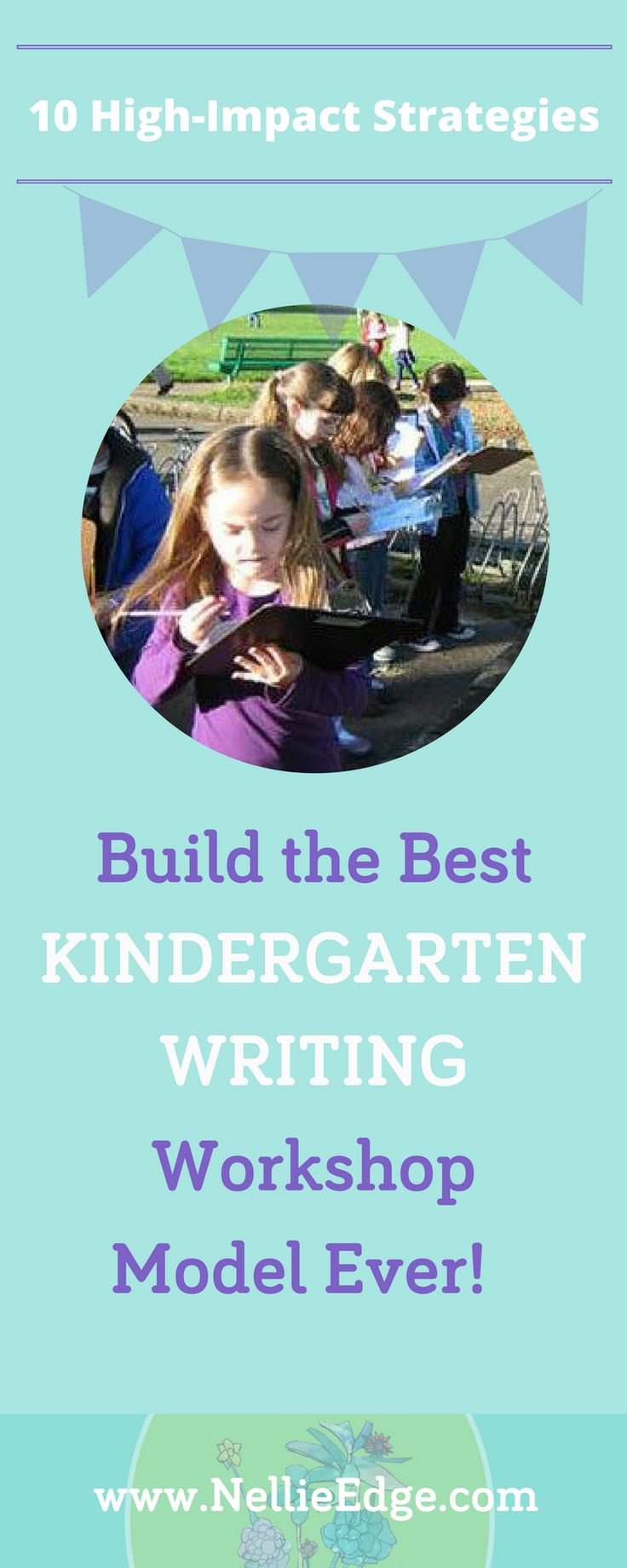 Build the Best Kindergarten Writing Workshop Model Ever! Use These 10 High-Impact Strategies: How do we differentiate instruction to simultaneously challenge and support diverse learners within the same kindergarten? How do we teach more intentionally, systematically, and create joyful pathways to the Common Core Standards? Learn more at http://nellieedge.com/kindergarten-writing-practices/ | Nellie Edge's Kindergarten Writing and the Common Core