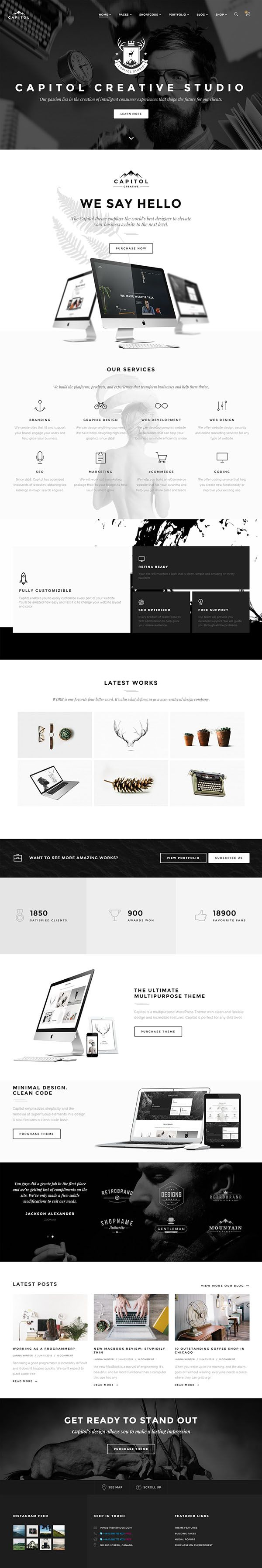 890 best web design images on pinterest page layout design web capitol creative multi purpose wordpress theme fandeluxe Images