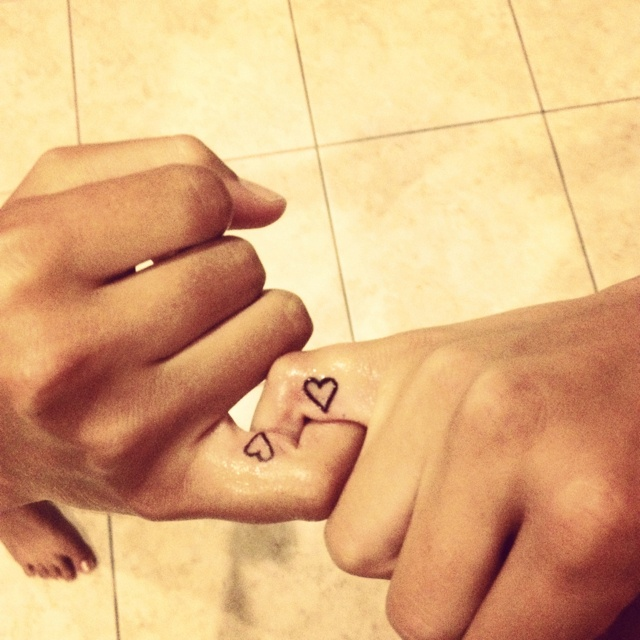 best friends tattoo, how cute.